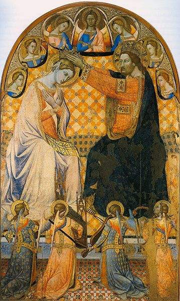 Coronation of Our Lady by Jacopo di mino Montepulciano.