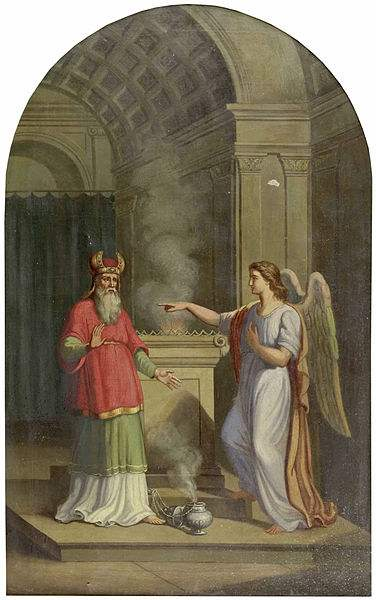 The Angel St. Gabriel appearing to Zacharias.
