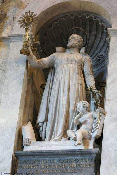 Statue of St. Francis Caracciolo at St. Peter's Basilica.