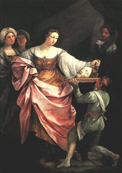Salome with the head of St John the Baptist, painting by Guido Reni.