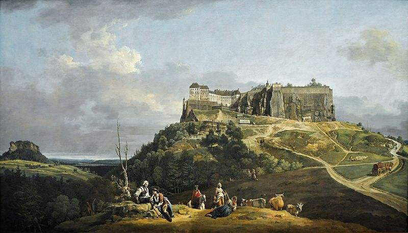 The Fortress of Königstein by Bernardo Bellotto