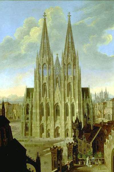 Painting of the Cologne Cathedral by Carl Georg Enslen.