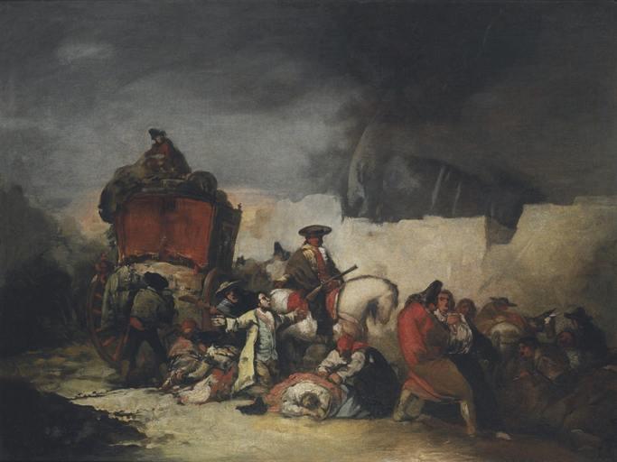 Painting by Eugenio Lucas Velázquez
