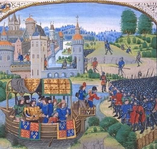 Richard II meeting with the rebels of the Peasants' Revolt of 1381.