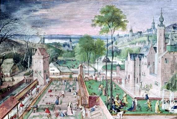 Spring in the Castle Garden, painted by Hans Bol.