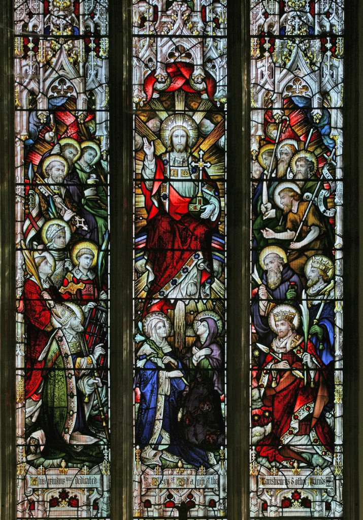 Stained glass window on Heaven
