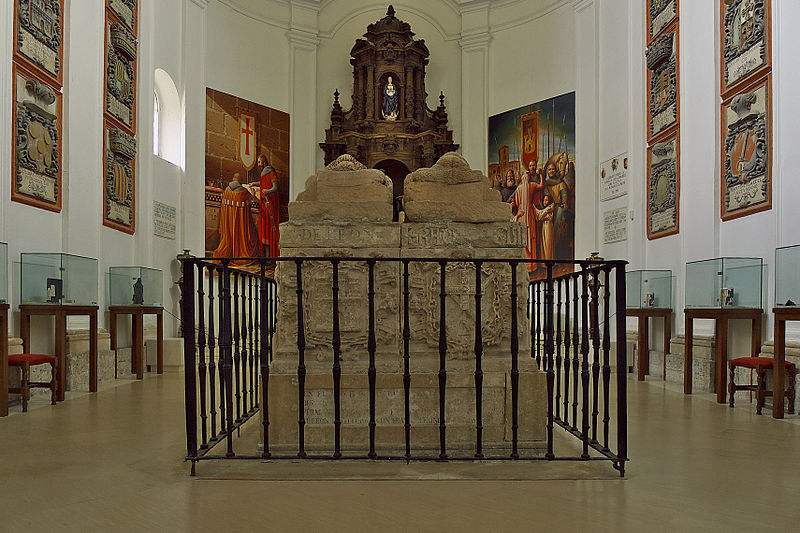 Photo of the tombs of El Cid and Doña Jimena in the Monastery o San Pedro of Cardeña, by Jose Luis Filpo Cabana.