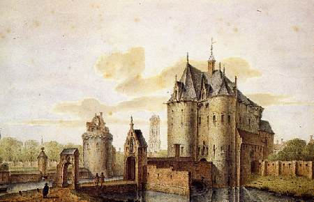 Winketpoort, watercolor by Jan Baptist De Noter.