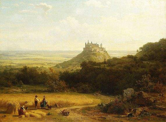 """""""Haymaking By A Medieval Castle, Germany""""by Arnold Meermann"""