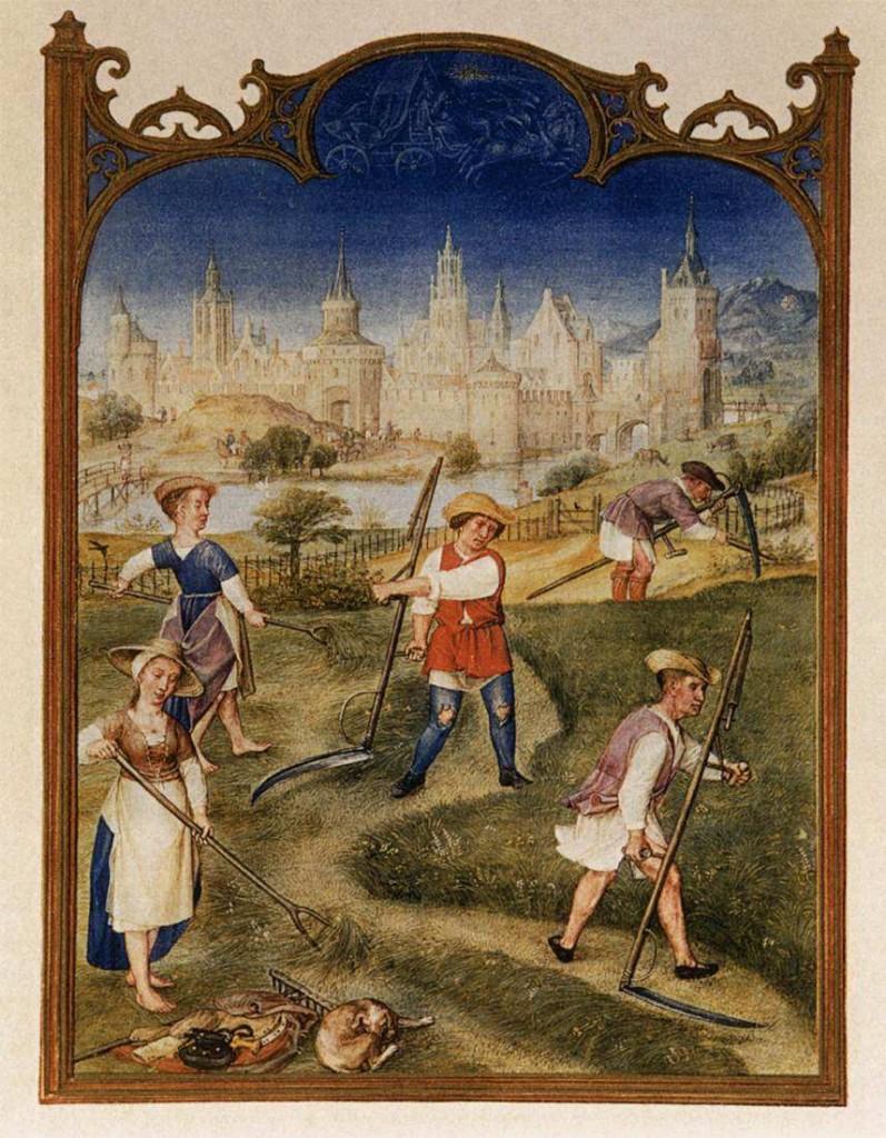 Medieval Harvest Scene by E. Schreiber