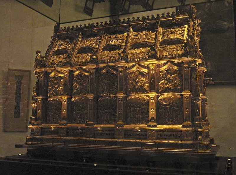 Photo of the Maccabees Shrine by Hans Peter Schaefer. The Relics of the Maccabees is at St. Andrew Church, in Cologne, Germany.
