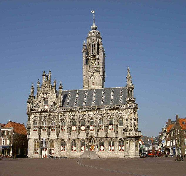 The City Hall of Middelburg in The Netherlands, Holland. Photo by Simone