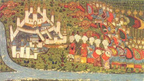 Turkish miniature of the siege of Belgrade 1456