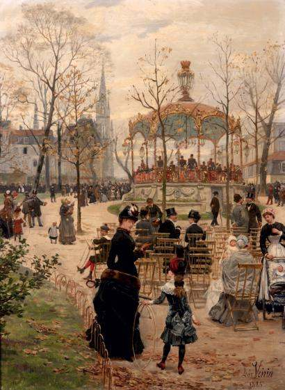 Painting by Leon Joseph Voirin.
