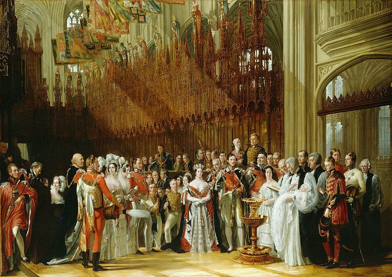 The baptism of the Prince of Wales, January 25, 1842.