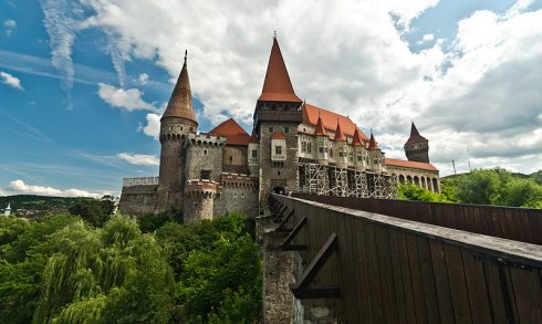 Corvin Castle, also known as Hunyad Castle, in Romania. Sigismund, King of Hungary bestowed Hunyad Castle (in present-day Hunedoara, Romania) and the lands attached to it upon John's father, Voyk and Voyk's four kinsmen, including John himself.