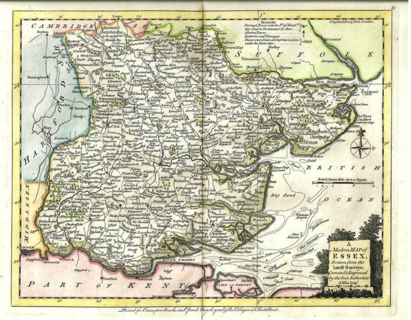 Map of Essex.