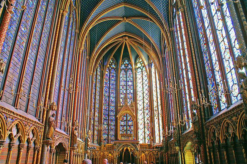 Photo of the Sainte Chapelle, Upper Chapel in Paris, France by Didier B.