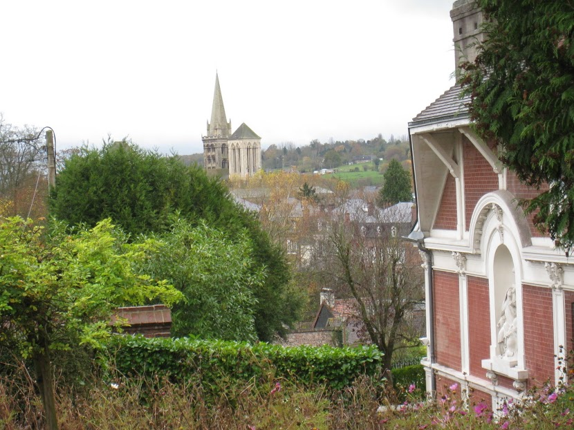 The view from Buissonnets à Lisieux, the Lisieux family home.