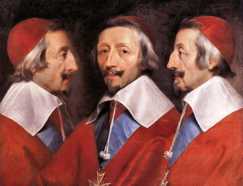 Triple Portrait of Cardinal de Richelieu by Philippe de Champaigne.