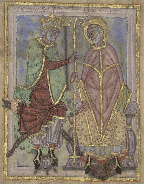 Saint Omer and King Dagobert, take from the Life of Saint Omer.