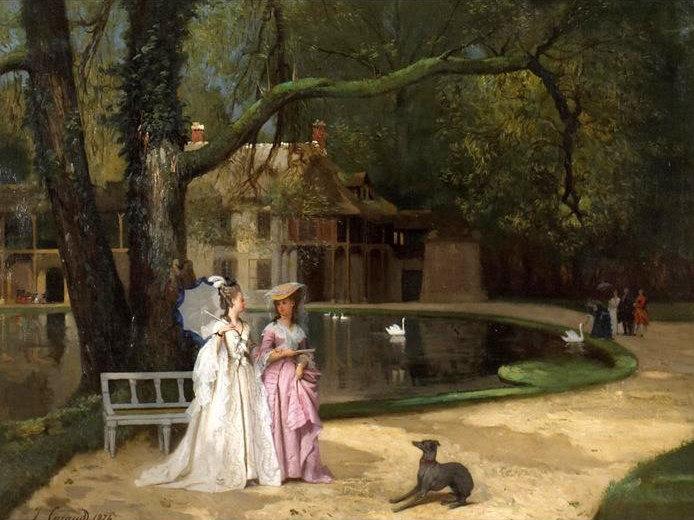 The Promenade, painting by Joseph Caraud