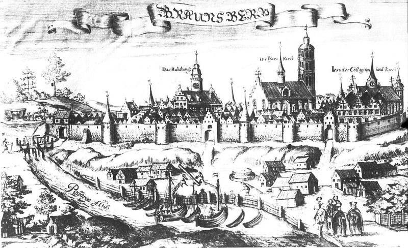 Braunsberg in 1684