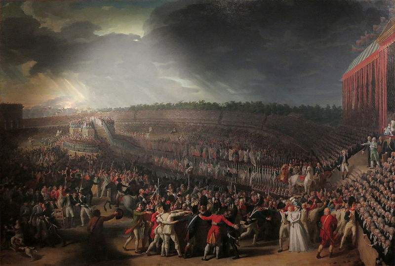 The Fête de la Fédération, July 14, 1790. Painting by Charles Thévenin.