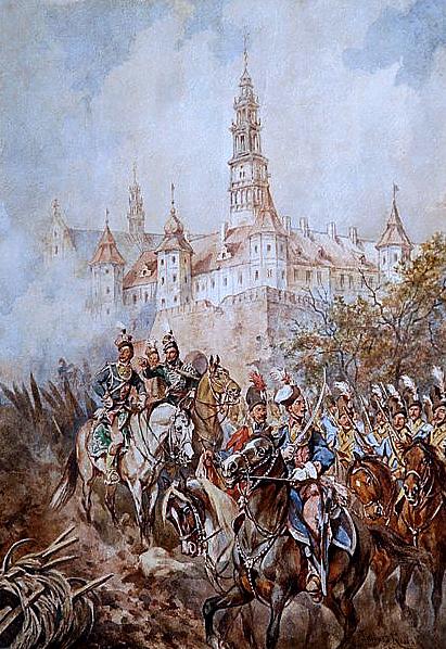 Casimir Pułaski at Częstochowa's walls