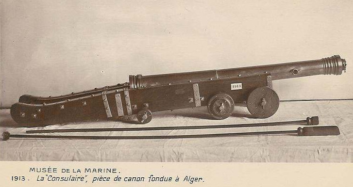 Baba Merzoug, a bronze cannon of twelve tons built in 1542 and renamed La Consulaire by the French in 1830.