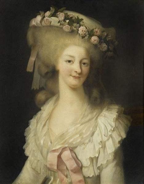 Maria Teresa Luisa di Savoia, Princess  de Lamballe. Painting by Louis-Édouard Rioult.