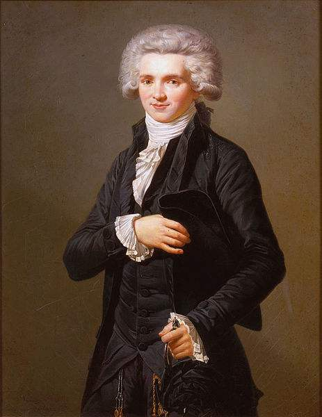 Maximilien Robespierre dressed as deputy of the Third Estate.