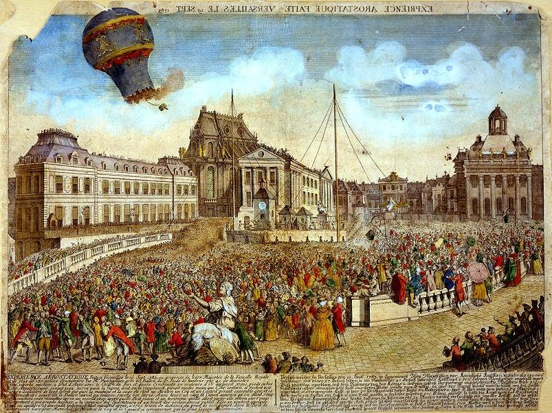 The launch of the Montgolfier Balloon