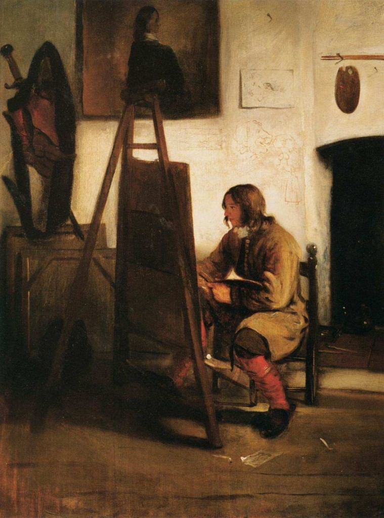 Young Painter in his Studio by Barent Fabritius