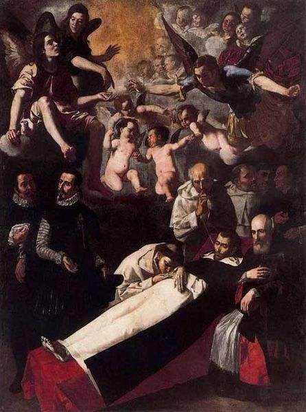 The Death of Saint Louis Bertrand, painted by Jerónimo Jacinto de Espinosa.