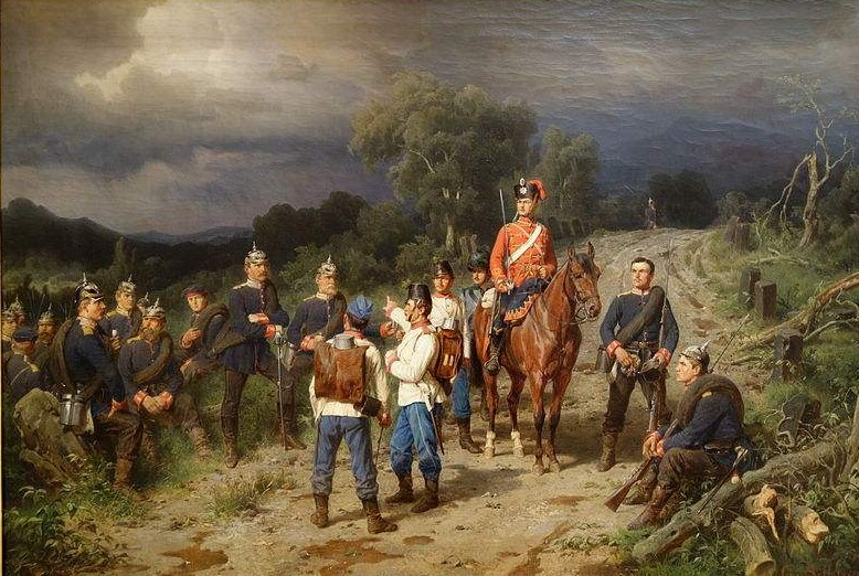 Meeting of the Austrian and Prussian Commanders. Painting by Christian Sell at the Chazen Museum of Art, University of Wisconsin-Madison.