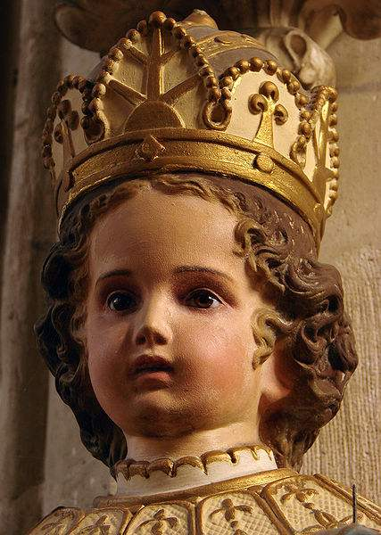 Photo of the statue of Infant Jesus of Prague in Our Lady Church in Joinville, Haute-Marne, France by Vassil.