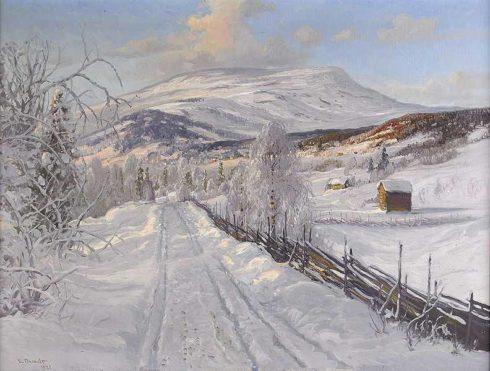 Carl Brandt - winter landscape