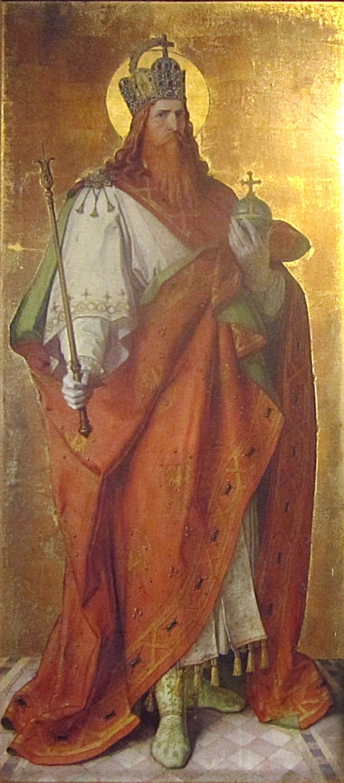 Painting of Charlemagne by Karl Baumeister. Photo taken by Bene16.