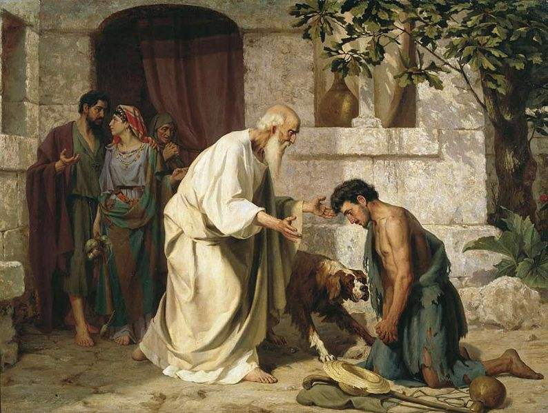 Painting of the Prodigal son by Nikolay Losev.