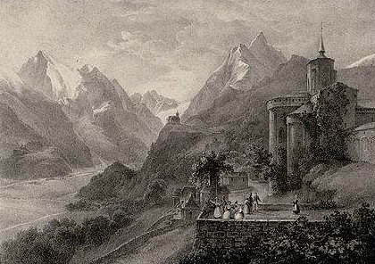 castle in mountains Saint-Savin, Vallée d'Argelès