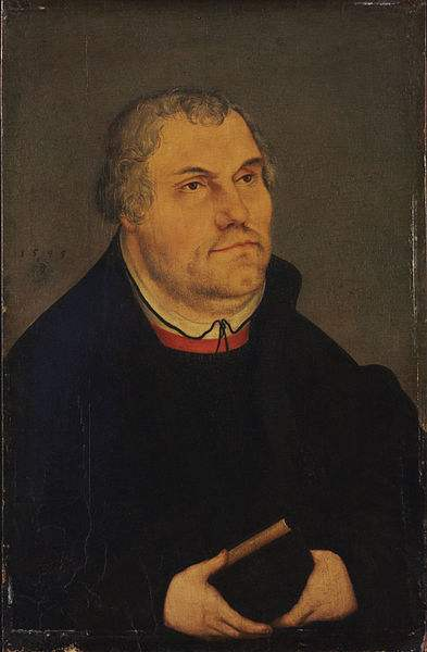 Portrait of Martin Luther by Lucas Cranach the Younger.