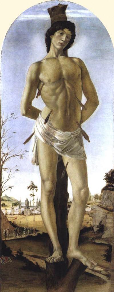 St. Sebastian by  Sandro Botticelli.