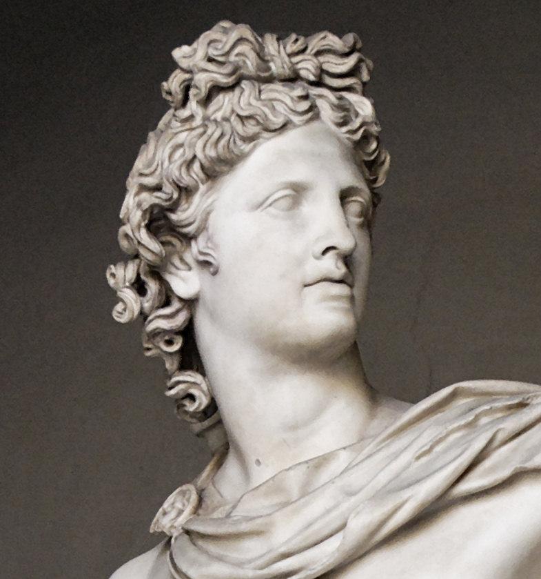 Statue of the famous Apollo Belvedere.