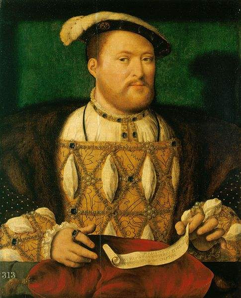 Henry VIII, painted by Joos van Cleve.
