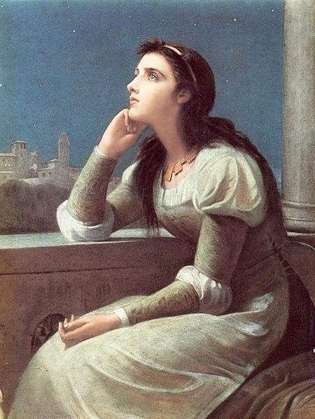 Philip H. Calderon's Juliet, from Romeo and Juliet.