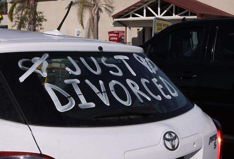 A recently divorced Marine proudly announces his divorce.