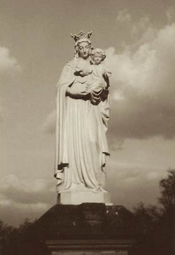 "The Statue in the garden in Le Réray that Anne called ""Our Lady of Consolation."""