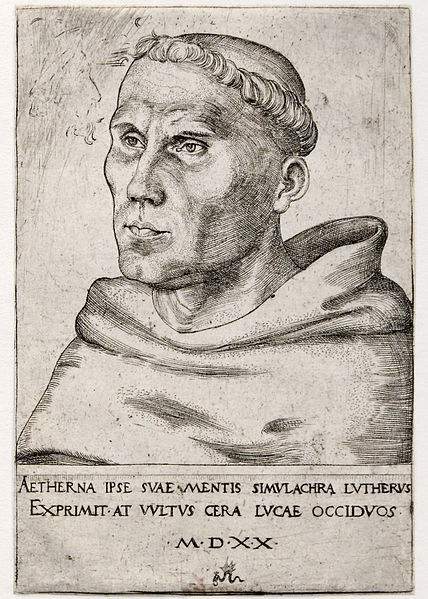 Portrait of Martin Luther when he was an Augustinian monk.