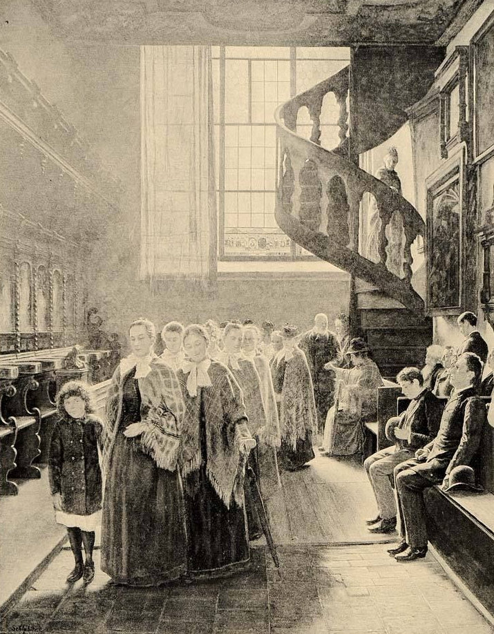 The Blind at Church 1896 Painting by Adolph Schlabitz.